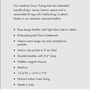 Gucci Bags - Gucci Swing Tote - Nude & Blue